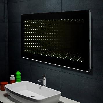 Spiegel mit beleuchtung  Design Wand Spiegel Badezimmerspiegel mit LED Beleuchtung ...