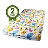 Pack N Play Fitted Crib Sheets 2 Pk Jungle Animal Print offers