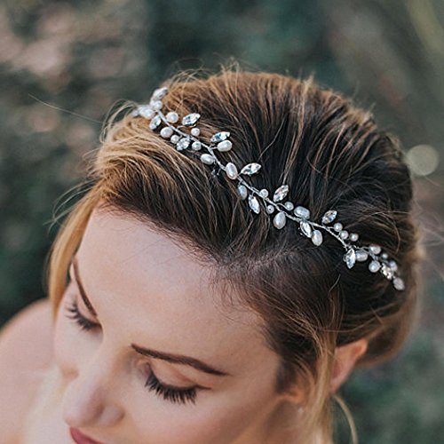 Artio Wedding Hair Vine Accessory Bridal Headpiece for Bride and Bridesmaids HV-509