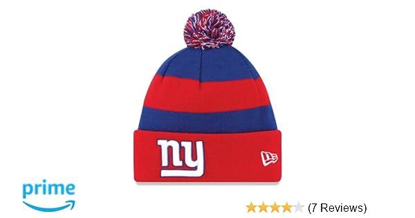 a3579b38a61 Amazon.com   New York Giants New Era On Field Sport Knit Hat   Sports Fan  Beanies   Sports   Outdoors