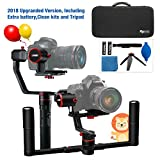 Feiyutech a2000 Upgraded Dual Grip Handle Kit for DSLR Camera, Foldable Handle,Compatible with NIKON/SONY/CANON Series Camera and lens, 2KG Payload, damping Sliding Arm including Tripod
