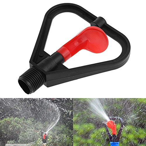 Techinal 1/2″ DN15 Plastic Irrigation Sprinkler Garden Nozzle 360 Degree Automatic Water Spray