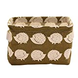 Foldable Storage Bins Basket Cube Containers, E-Scenery Durable Storage Organizers with Strong Handles for Home Closet Office Clothes Shoe Baby Toys, 8 x 7 x 5.5 inches (D)