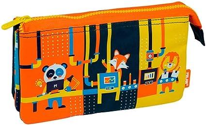 Portatodo Milan Underground Blue con 5 Compartimentos: Amazon.es: Oficina y papelería