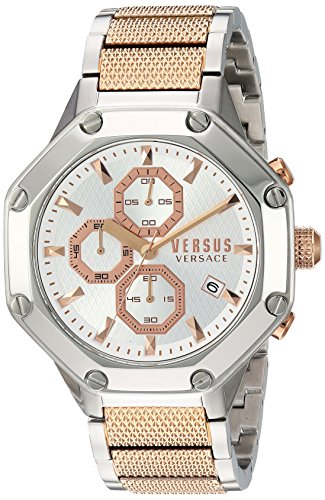 Versus by Versace Men's 'KOWLOON' Quartz Stainless Steel Casual Watch, Color Two Tone (Model: VSP390717)