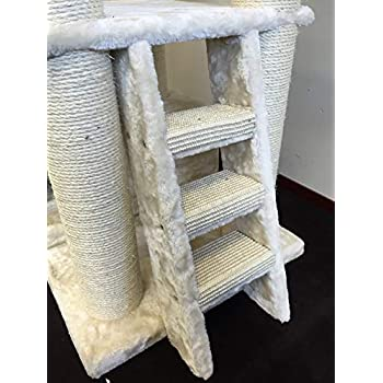 Cat Tree for Large Cats – Corner Cat XXL Beige – 59 inch 105 lbs 5 inch Ø poles – Total size 59x24x22 inch – Cat Scratcher scratching post activity center Cat Trees for large cats. Quality product fro
