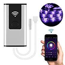 LED Smart Controller Sunsbell WIFI Wireless LED Controller for GRB LED Light Strips, Works with Amazon Alexa/Google