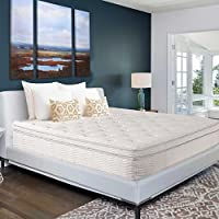 SLEEPLACE 13 Inch Comfort Independent Dura-Coil pocketed Euro Box Top Spring Mattress 13SM02 (King - 13 Inch)