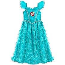 Disney Store Deluxe Ariel The Little Mermaid Nightgown Size Medium 7 - 8 2016
