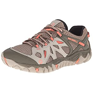 Merrell Women's All Out Blaze Aero Sport Hiking Water Shoe, Beige/Khaki, 8.5 M US