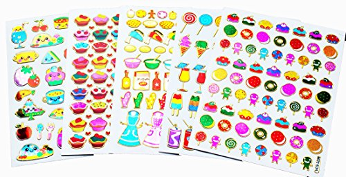 Candy Stickers (Fancy! Mix! Cupcake, Candy, Cook and Drink No.1 Sparkle Sticker-5 Sheet)