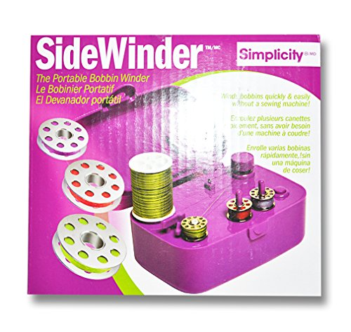 Simplicity Side Winder The Portable Bobbin Winder Purple (Bobbin Portable Winder)