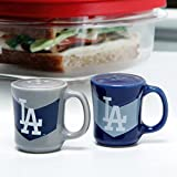 MLB Los Angeles Dodgers Chevron Salt & Pepper Shaker Mugs, One Size, Multicolor