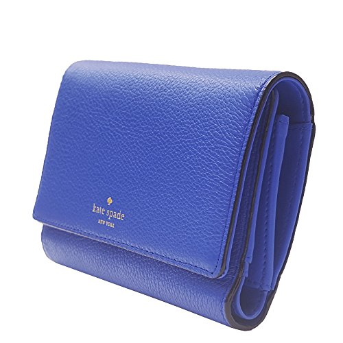 Kate-Spade-New-York-Wallet-Leather-Snap-Blue
