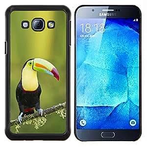 Tucán Aves Ornitología Especies Green Spring- Metal de aluminio y de plástico duro Caja del teléfono - Negro - Samsung Galaxy A8 / SM-A800