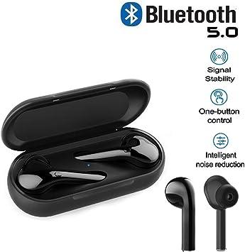 XDSP Auriculares Bluetooth Inalámbrico 5.0, Auriculares Bluetooth Deportivos IPX54 Impermeable, Caja de Carga inalámbrica Portátil Y Micrófono, Compatible con iOS y Android: Amazon.es: Electrónica