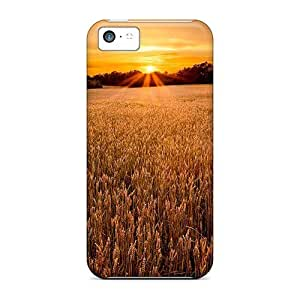 linJUN FENG[dXA16404OGsr]premium Phone Cases For iphone 5/5s/ Field At Sunset Cases Covers