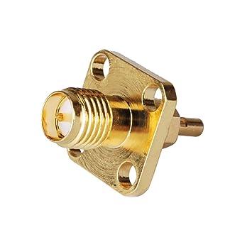 PC-Case 5pcs aleación de cobre de cable coaxial RF Cable eléctrico Terminal Conector RP