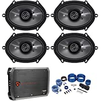 4) Kicker 43CSC684 CS68 6x8 450w Car Audio Speakers+4-Channel Amplifier+Amp Kit