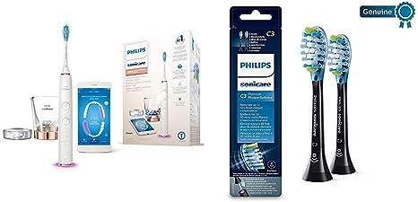 Philips Sonicare - Cepillo de Dientes Eléctrico DiamondClean Smart HX9901/63 + Pack con 2 cabezales: Amazon.es: Salud y cuidado personal