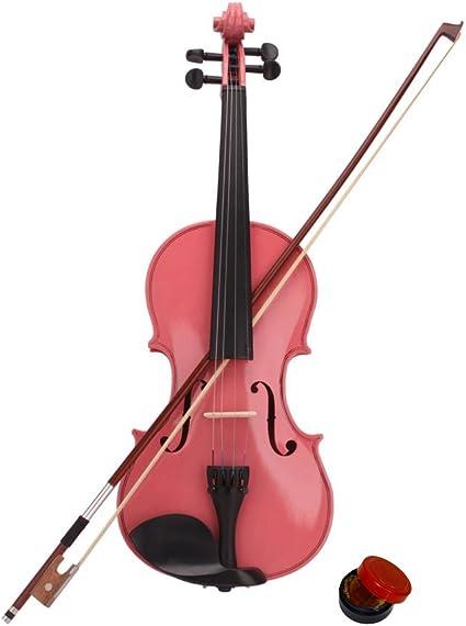 Estuche para violín acústico 4/4 con lazo para suministros de rendimiento, rosa: Amazon.es: Instrumentos musicales
