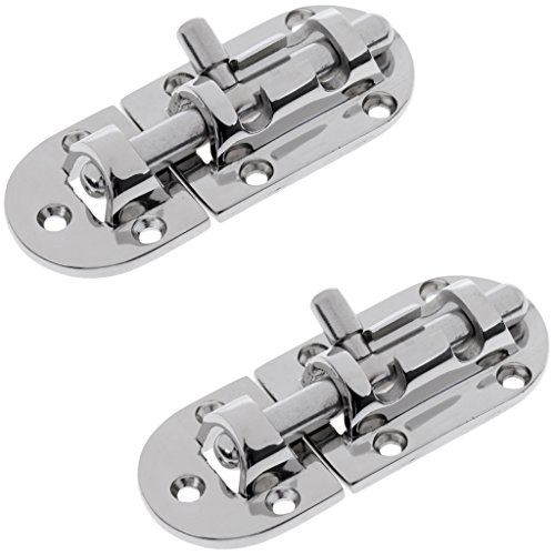 Hasps Barrel Bolts - MonkeyJack 2x 316 Stainless Steel Latch Barrel Long Bolt Hasp Gate Shed Slide Door Lock