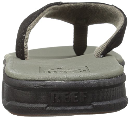 Reef Herren Rover Sandalen, Schwarz, Talla única oliv / schwarz