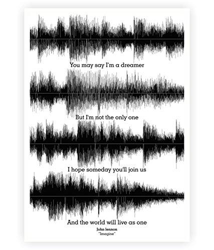 John Lennon Imagine Lyrics Poster in A3