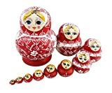 Best Winterworm Dolls - Winterworm 10PCS Cutie Lovely Red and white porcelain Review