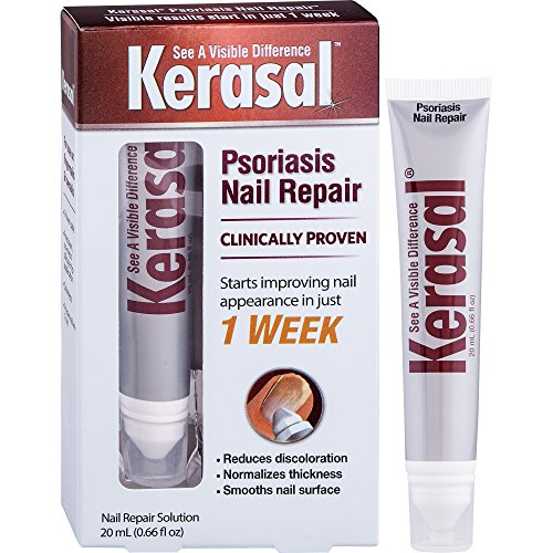 Kerasal Nail Psoriasis Repair - Clinically Tested - New Product for Dry, Cracked, Discolored, Pitted, and Very Brittle Nails - Improvement in Just One Week, 20 mL by Kerasal