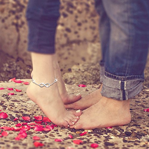 womens bracelet silver anklet ankle love endless adjustable charm infinity bijoux sterling large billie symbol shop beauty