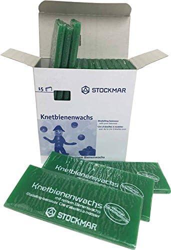 15 Tafeln 100x40x6 mm Schwarz Stockmar Knetbienenwachs Einzelfarben