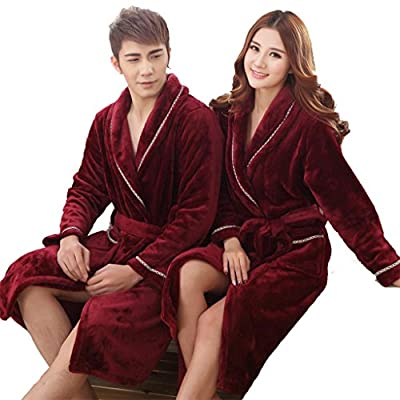 Winter bathrobes Sleeve short plush spring and autumn men and women thick robe home pajamas bathrobe