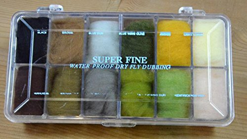 Wapsi Fly Tying Dubbing Dispenser, Super Fine Dubbing #1 Synthetic Fly Tying Materials Body