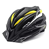 VICTGOAL Bike Helmet with Detachable Visor Back Light & Insect Net Padded Adjustable Sport Cycling Helmet Lightweight Bicycle Helmets for Adult Men and Women Youth Teenagers (Black Yellow) Review