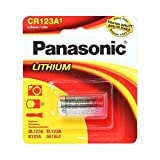 Panasonic CR123 CR123A 3V Lithium Battery (6 Pack) in Reusable Clam Shell