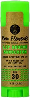 product image for Raw Elements Organic Lip Rescue Zinc Oxide SPF 30+, 0.15oz