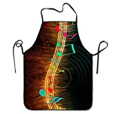 RZ GMSC Novelty Music Light Unisex Kitchen Chef Apron - Chef Apron For Cooking,Baking,Crafting,Gardening And BBQ