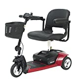 Pride Mobility - Go-Go Ultra X - Travel Scooter - 3-Wheel - Red - PHILLIPS POWER PACKAGE TM - TO $500 VALUE