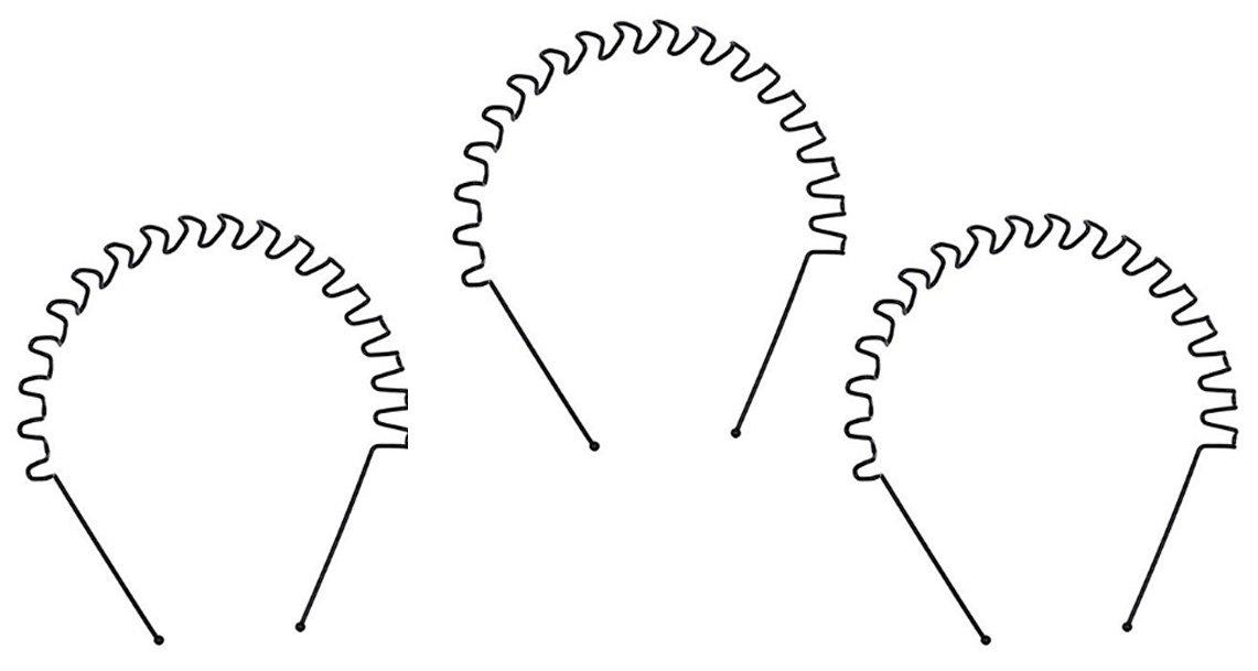 (Lot de 3) zigzag Flexible Sports antidérapant Bandeau Cheveux ondulés en métal Noir Hoop Cheveux Band Unisexe Fille Homme Bandeau pour femme accessoire