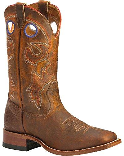 n Cowboy Boot Wide Square Toe Tan 10.5 D(M) US (Boulet Mens Medium Square)