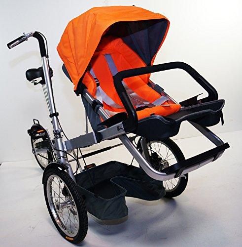 3 Wheels Folding Bicycle Stroller Bike Carrier Pushchair Bike For Jogging Mother & Baby. rideONEcar