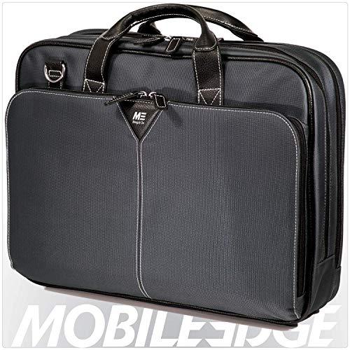 Mobile Edge Graphite Series Premium Nylon Laptop Briefcase 16 Inch PC and 17 Inch Mac, Premium Exterior Material, Graphite, for Men, Women, Business, Students - Briefcase 17 Premium