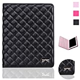 quilted case ipad air - iPad Air 2 Case - Bestwo Quilted Embroidered Hearts Design Premium PU Leather Case Smart Auto Wake/Sleep Cover for iPad Air 2 - Black