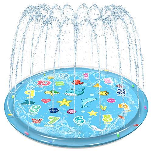 """Jasonwell Sprinkler for Kids Splash Pad Play Mat 60"""" Baby"""