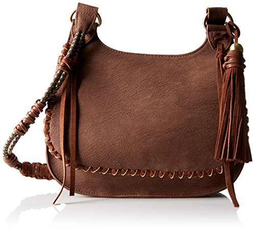 Boho-Chic Vacation & Fall Looks - Standard & Plus Size Styless - STEVEN by Steve Madden Evelyn Cross Body Handbag,Brown