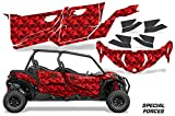 AMR Racing UTV Graphics kit Sticker Decal Compatible with Can-Am Maverick Sport MAX DPS 4-Door 2019 - Special Forces Red
