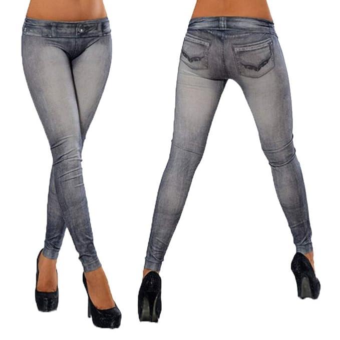 Ropa De Yoga Calzoncillos De Comercio Exterior Pantalones Vaqueros De Imitación Blancos Molidos Sin Costuras Elasticidad Nueve Pantalones Lápiz K757