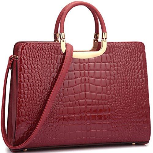 dasein-patent-croco-briefcase-shoulder-bag-satchel-with-bonus-shoulder-strap