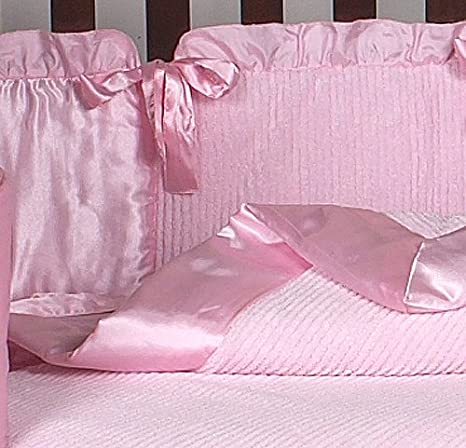 3f7a83aef60cb Amazon.com   Sweet Jojo Designs Pink Chenille and Satin Baby Girl Bedding  9pc Crib Set   Baby